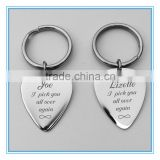 Yiwu Meise Engraved Stainless Steel Guitar Pick Keychain Set