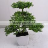 Wholesale price high quality artificial types of ornamental plants artificical table bonsai