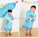 PVC rain coats for kids Fashion Polyester/PVC /PU waterproof wind breaker and workwear rain coat