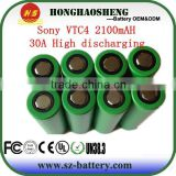 18650 vtc4 / 18650 rechargeable vtc4 battery/18650 30a vtc4 battery for sony vtc4