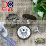 Wholesale Custom Nickel Free Jeans Rivets Buttons for Clothing