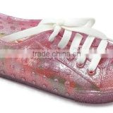 New Moulding PVC Kids Plastic Jelly Flower Shoes,Kids Flat Sandals Shoes PVC Crystal Jelly Shoes