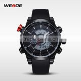 Weide allibaba com watches guangzhou watch factory analog digital dual time display pu band wrist watch