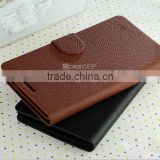 Decent Business men style wallet stand PU flip leather case for Huawei Ascend Mate new case