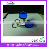 Best wedding gift Special shape blue crystal usb 3D logo engraved in