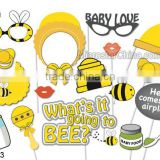 Baby shower birthday party children's day christmas photo booth props bee themed