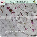 Jacquard flower cotton cord fabric for white lace wedding shoes