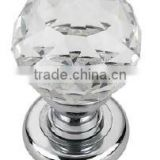 55MM CLEAR CRYSTAL GLASS MORTICE DOOR KNOB, CRYSTAL DOOR KNOB POLISHED CHROME                                                                         Quality Choice