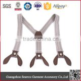 High quality button end custom suspenders