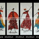 2016 4 panels abstract african women oil painting