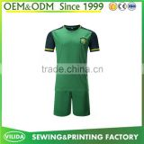 New custom cheap soccer jersey set high quality 100% polyester polo shirt and short football uniform