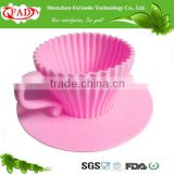 2016 100% food grade baking set silicone cup cake mold