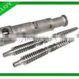 2016 JINSHENGhigh speed competitive price conical twin screw barrel for plastic extruder