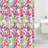 Home goods printed bright-colored shower curtain