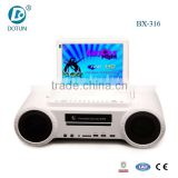 3 inch car small speaker with screen bluetooth speaker with microphone mini home speaker with handle