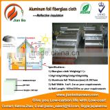 Heating and fireproof Aluminum foil fiberglass cloth for pipeline