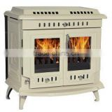 German wood stove, cast iron wood burning stove, wood stove with boiler, multi fuel stove