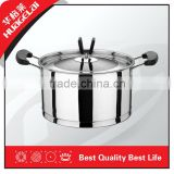 Kitchen Queen Stainless Steel Casserole With Lid,bakelite handles,5-layer base,induction available