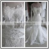 Lace Long Sleeve Mermaid Custom Made Floor Length Formal Bridal Dress Vestidos De Novia BW074 wedding dresses real sample