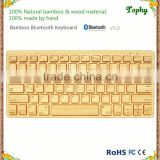 Universal bamboo Bluetooth Keyboard for ios, android and windows tablet and smartphone
