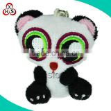 Cheap wholesale plush animal keychain,soft plush stuffed kungfu panda keychain