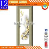 Grey Elegant Extruded Aluminum Door Frame Can Customize Pattern Laminated Bathroom Door Cheap Aluminum Kitchen Door
