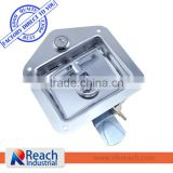 Heavy Duty Truck or Trailer Toolbox Flush Mount Polished Stainless Steel Key-Locking Recessed Turning Lock Lift Handle