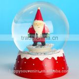 Polyresin christmas ornament christmas glass snow ball,best gifts for friends
