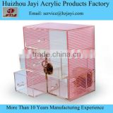 Clear pink gifts box for jewellery
