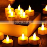 Battery operated mini plastic warm white led candle light for Christmas