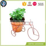 Garden rotating metal display bicycle flower stand