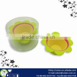 High Quality Food Grade 9pcs Flower Shape Silicone Cupcake Mold Set
