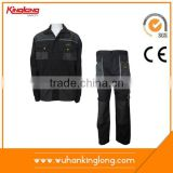 industrial labor suits for manafacture, working garments with workwear jackets and long pants