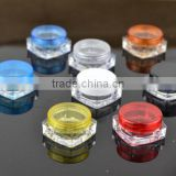 3g cosmetic jars empty cosmetic containers sample containers plastic jars with lids cream jars cosmetic packaging