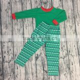 2017 top design autumn winter Christmas Printed Kids Plain Christmas Pajamas Soft Warm Christmas Pajamas Boys