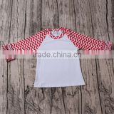 New Style Girls red with white and have many icing ruffles raglan T-shirts alibaba online shopping