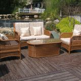 Customized Teak Wood Outdoor Patio Furniture Waterproof Decorative