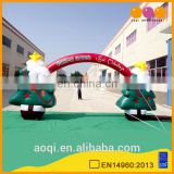 AOQI popular outdoor Christmas tree inflatable party arch for sale for decoration
