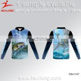 Vented Fishing Shirts Uv Protection, New Design Custom Fishing Jersey Wear