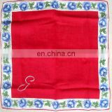 Classical graceful flower border hanky with personalized logo