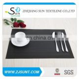 Free sample black double rectangle placemat with PVC