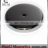 "100 LB Holding Power Ceramic Cup Magnet 3.2"" Magnetic Round Base"