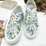Womens StacyLowery  Lace Up Casual Canvas Shoes with Jasmine flowers