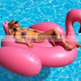 Pink inflatable giant flamingo shaped pool float ring water toy swimming water fun