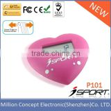 Heart Shaped Pedometer Step Counter and Calorie Meter