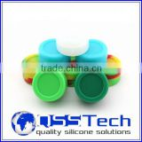 High quality 7ml customized small silicone travel tube/ oil dab wax container/ silicone wax and oil container