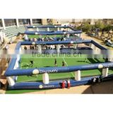 Inflatable Soap Football Field Human Foosball