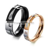 Stainless steel jewelry mixed batch factory direct selling couple rings black rose gold small MOQ
