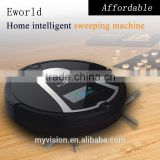 Eword electric sweeper with Auto recharge,Anti-fall sensor function floor cleaner for home