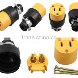 More professional Super Nylon UL Listed 2 pin US power industrial plug/America rewireable socket/2 pin ac power socket
